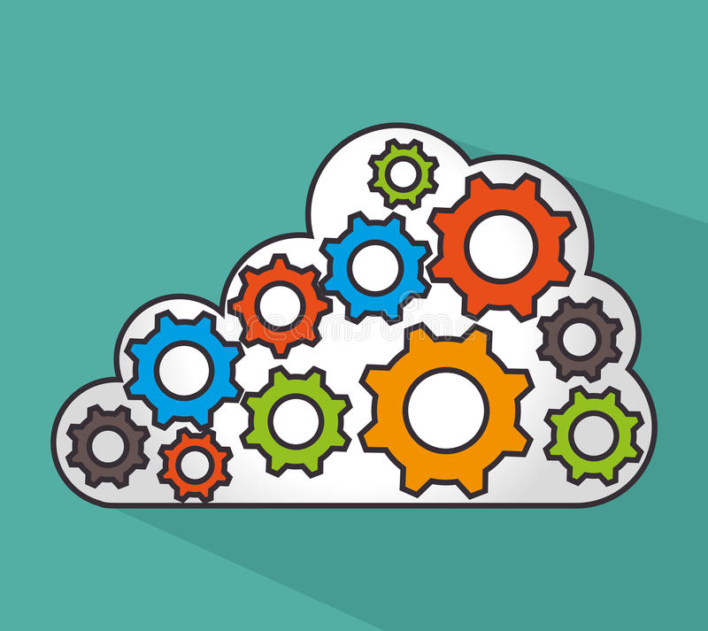 Cloud computing design. royalty free illustration
