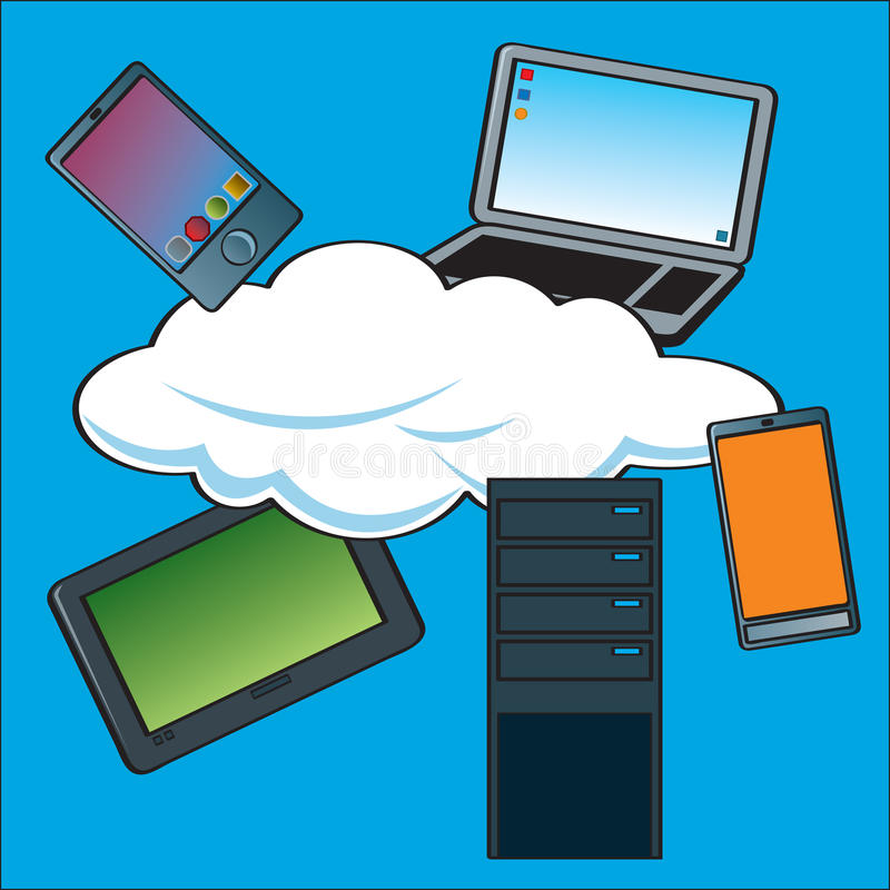 Download Cloud Computing Devices stock vector. Image of computer - 26594492