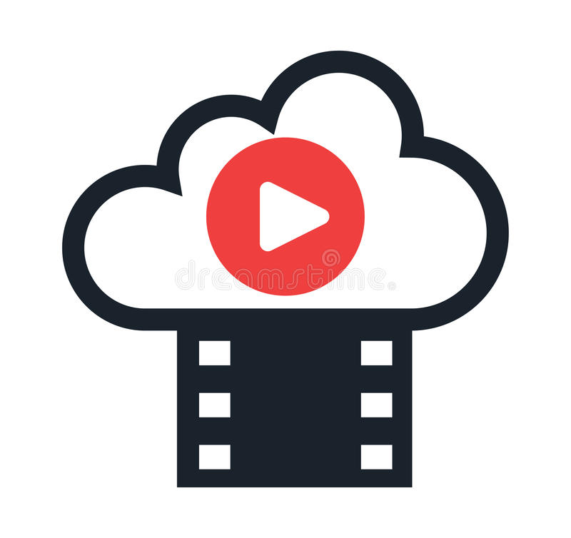 Cloud Computing and Entertainment royalty free illustration