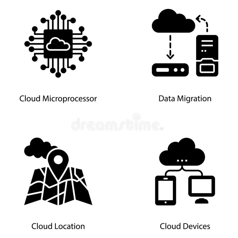Cloud Computing fast design stock illustrationer