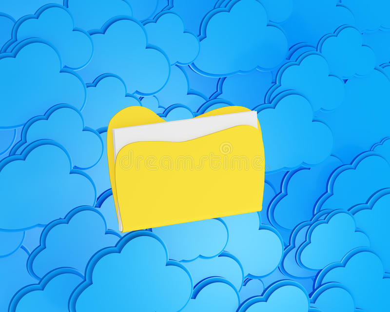Download Cloud Computing With Folder Stock Illustration - Image: 26915222
