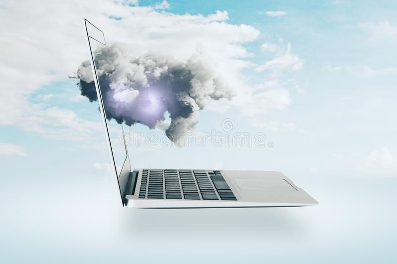 Cloud computing and future concept stock photo