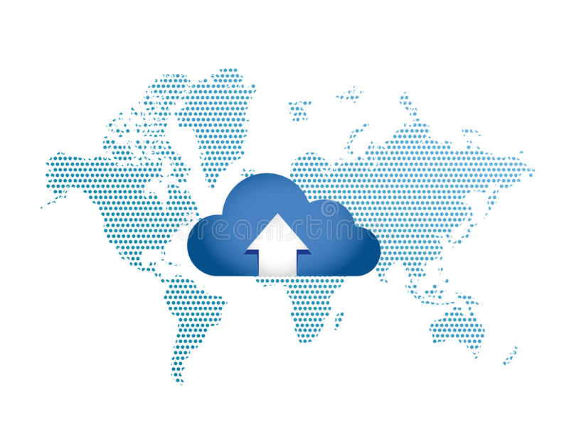 Cloud Computing Globalization Connection concept stock images