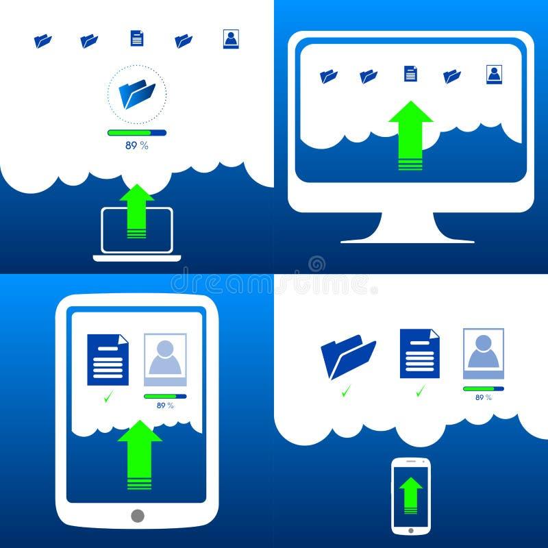 Cloud computing. Graphic design, Vector illustration vector illustration