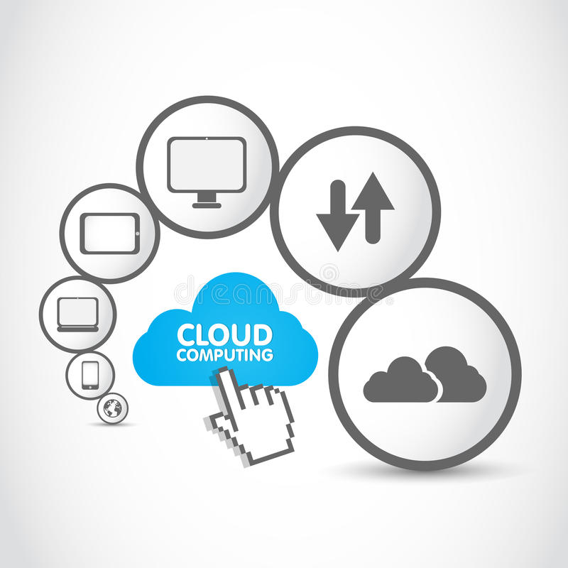 Cloud Computing Group Royalty Free Stock Photo