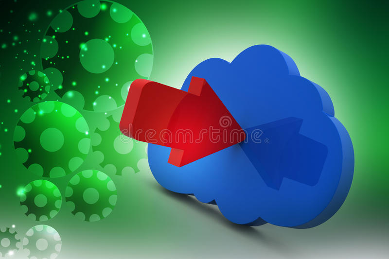Cloud Computing Icon stock illustration