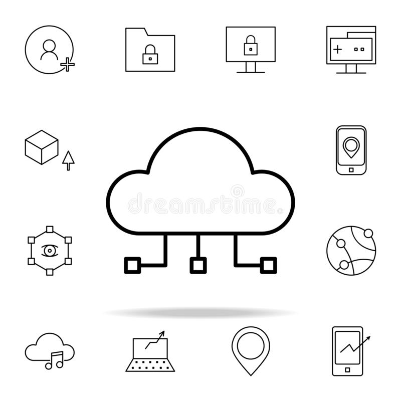 cloud computing icon. New Technologies icons universal set for web and mobile royalty free illustration