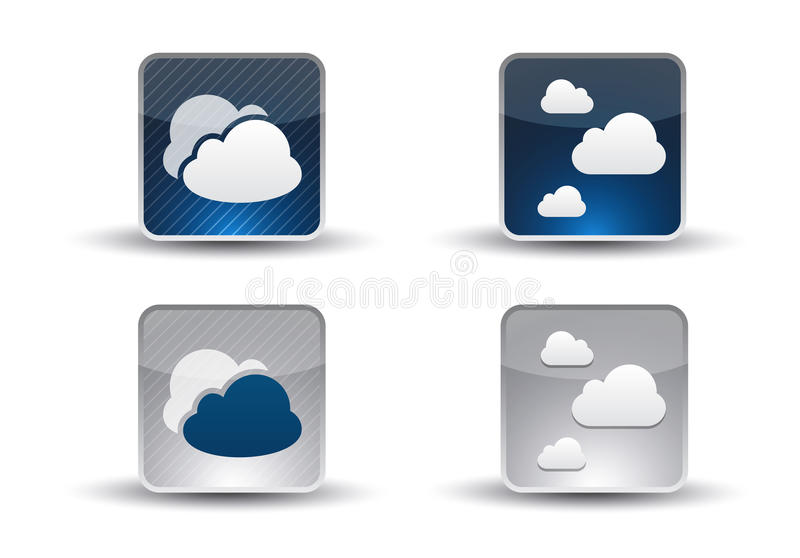 Download Cloud Computing Icon Set stock vector. Image of cell - 28792844