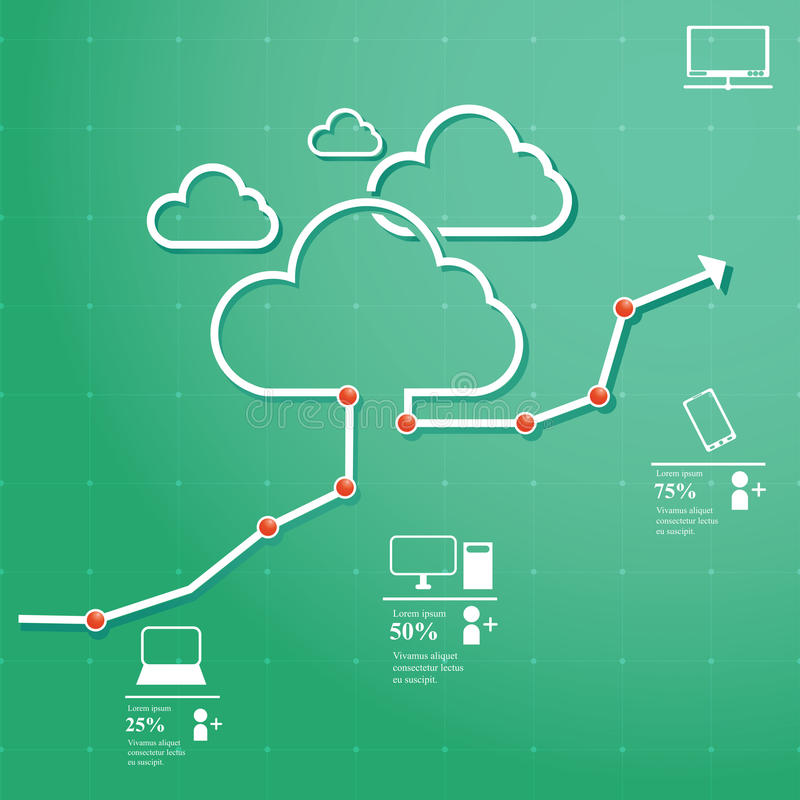 Download Cloud Computing stock vector. Image of communication - 40724297