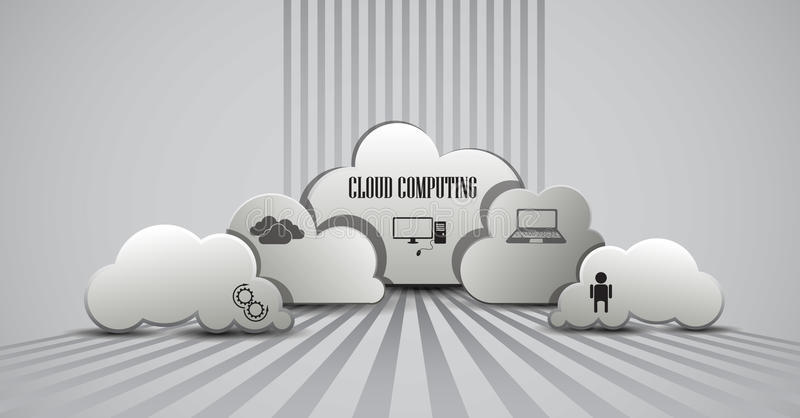 Cloud computing infographic royalty free illustration