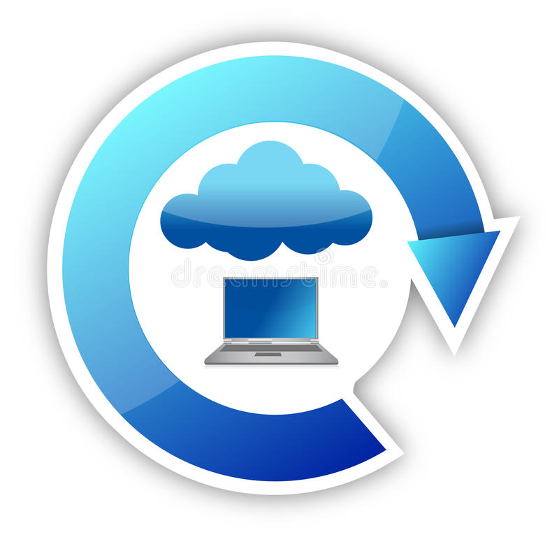 Download Cloud Computing And Laptop Cycle Stock Photos - Image: 27680223