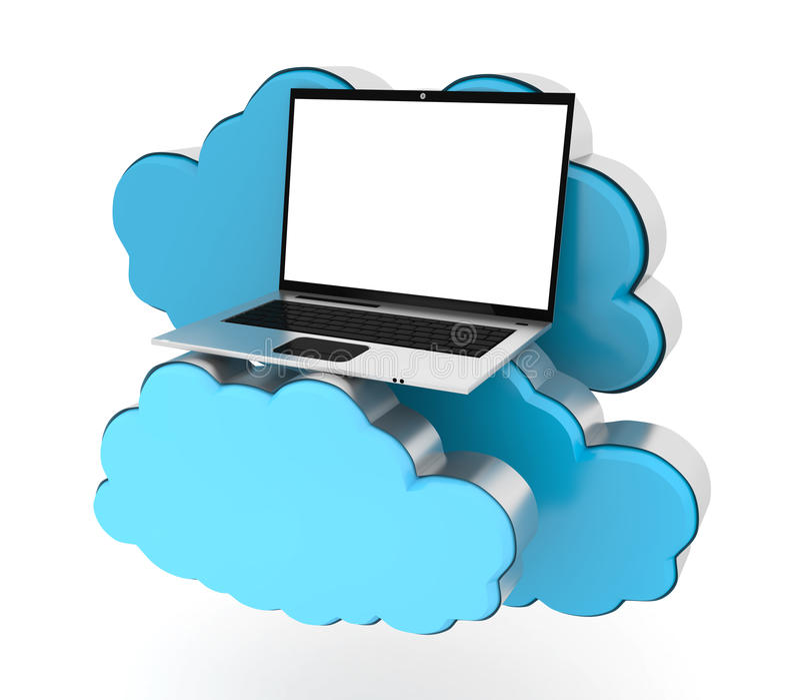 Cloud computing and laptop
