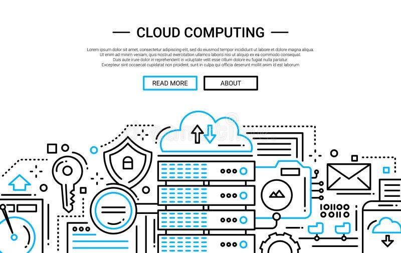 Download Cloud Computing - Line Design Website Banner Stock Vector - Illustration: 79371089
