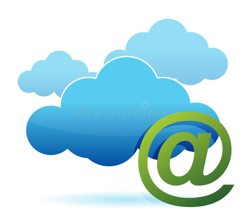 Download Cloud Computing And Mail Sign Stock Vector - Illustration: 26469841