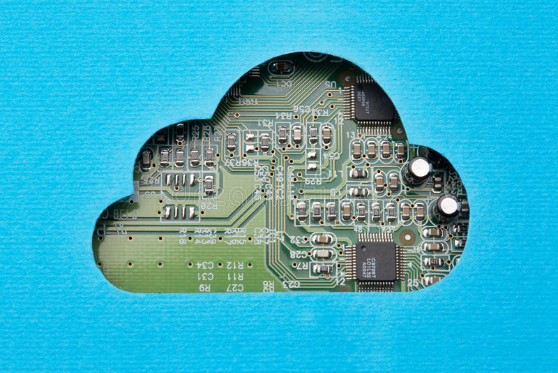 Cloud computing mechanism royalty free stock image