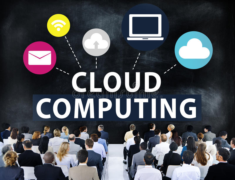 Cloud Computing Network Online Internet Storage Concept royalty free illustration