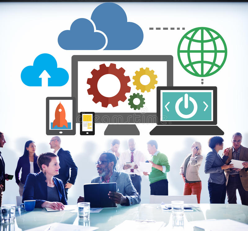 Cloud Computing Network Online Internet Storage Concept.  royalty free stock photo