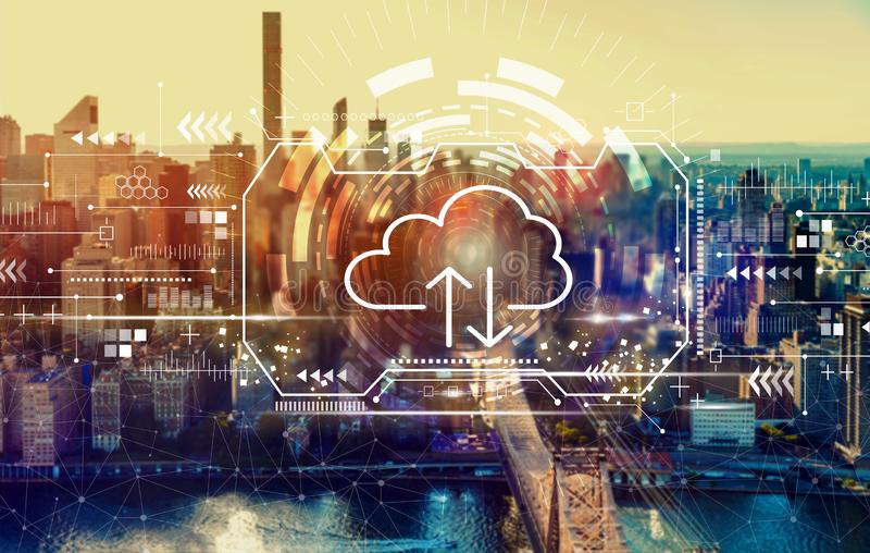 Cloud computing with New York City stock photography