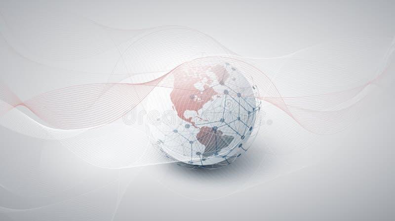 Cloud Computing och n?tverksbegrepp med jordjordklotet royaltyfria foton
