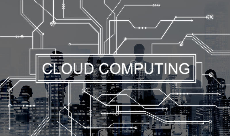Cloud Computing Online Technology Circuit Board Concept Stock Image ...
