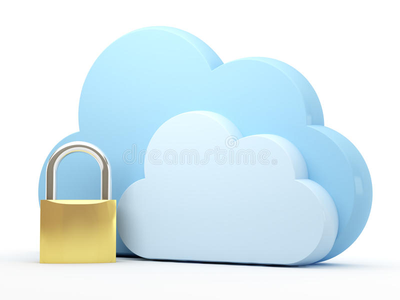 Download Cloud computing, security stock illustration. Image of network - 25507424