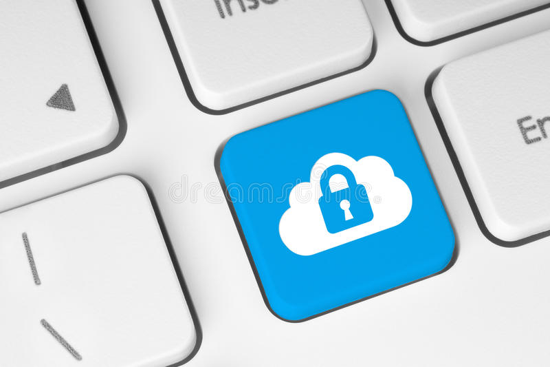 Cloud computing security concept royalty free stock photo