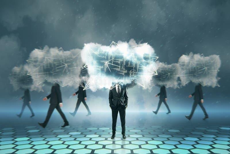 Cloud computing and server concept stock photos