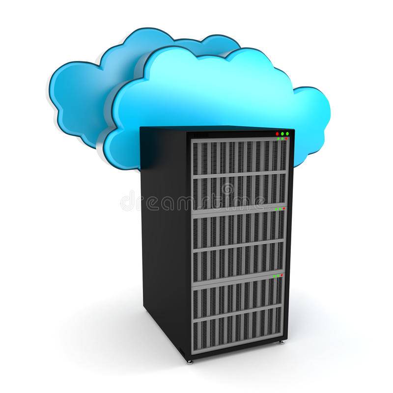 Download Cloud computing and server stock illustration. Illustration of symbol - 34396798