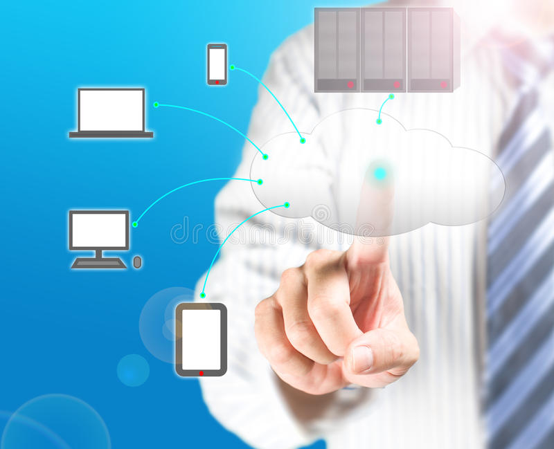 Download Cloud Computing Service With A Business Man Stock Image - Image: 33271649