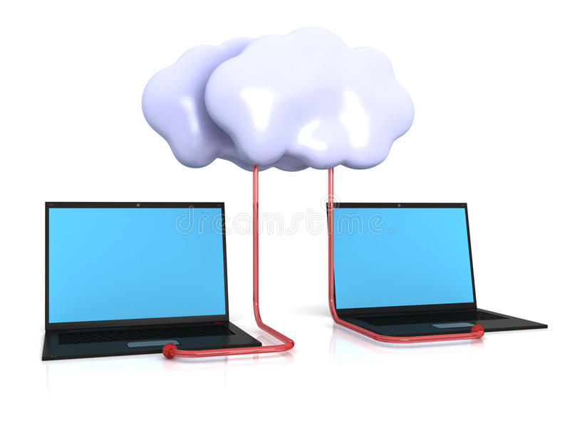 Download Cloud computing services stock illustration. Illustration of technology - 24026157