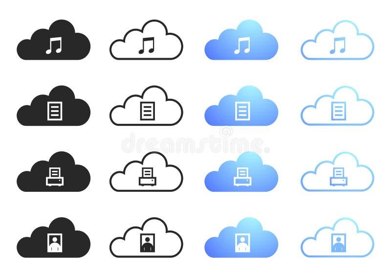 Download Cloud Computing - Set 2 stock vector. Image of graphic - 27230954
