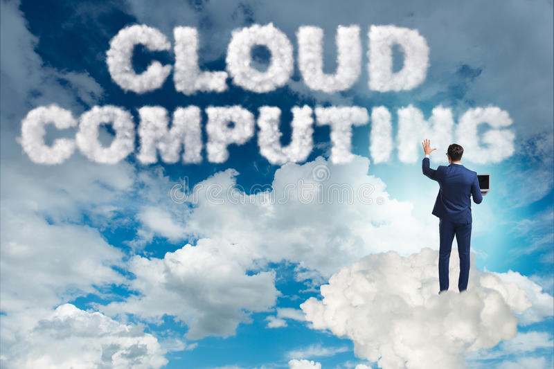 The cloud computing storage in it concept stock images