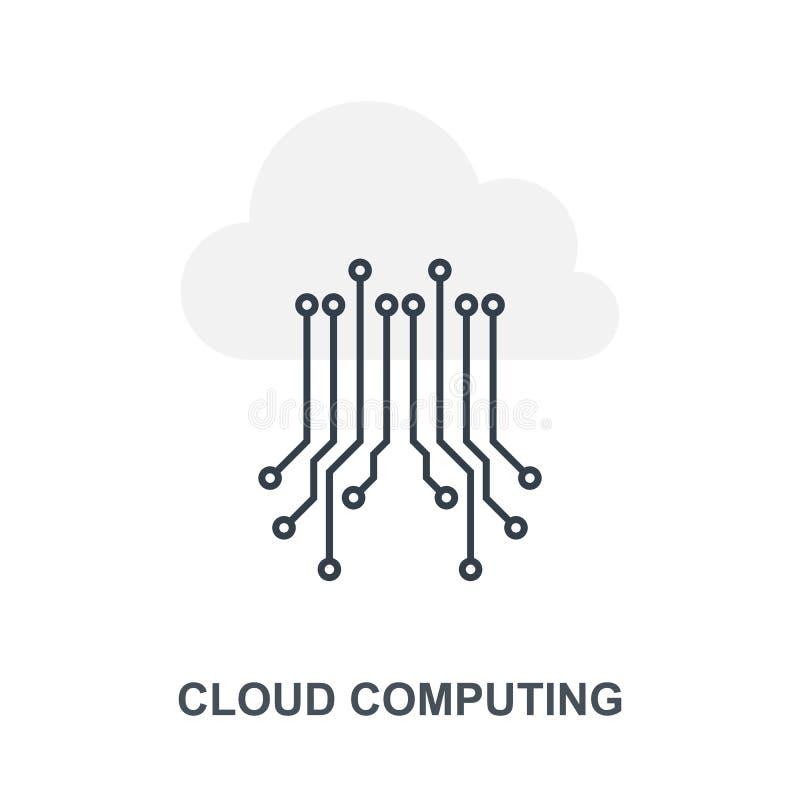 Cloud Computing symbolsbegrepp vektor illustrationer