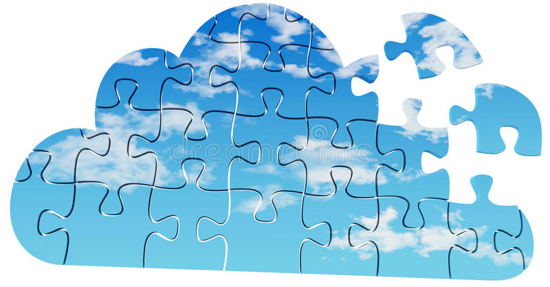 Download Cloud Computing Tech Puzzle Solution Stock Illustration - Illustration of puzzle, cloud: 31809877