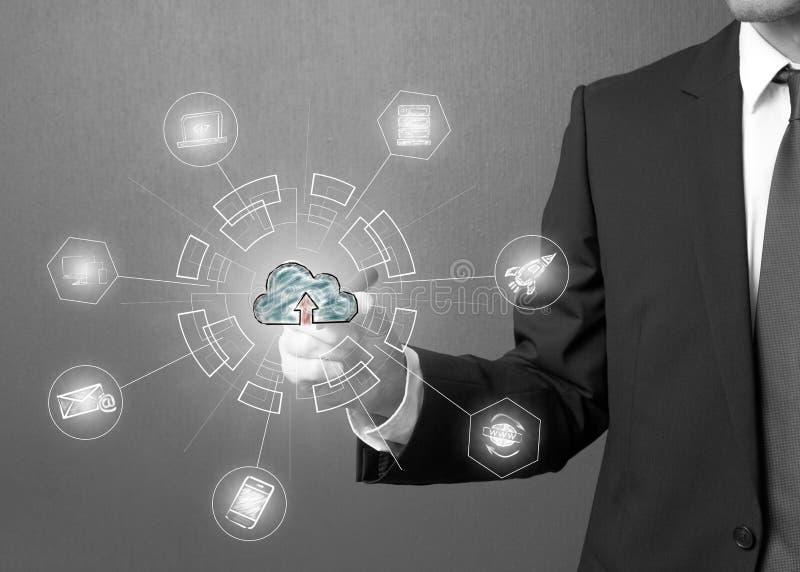 Cloud Computing-Technologie-Netz-Konzept lizenzfreies stockfoto
