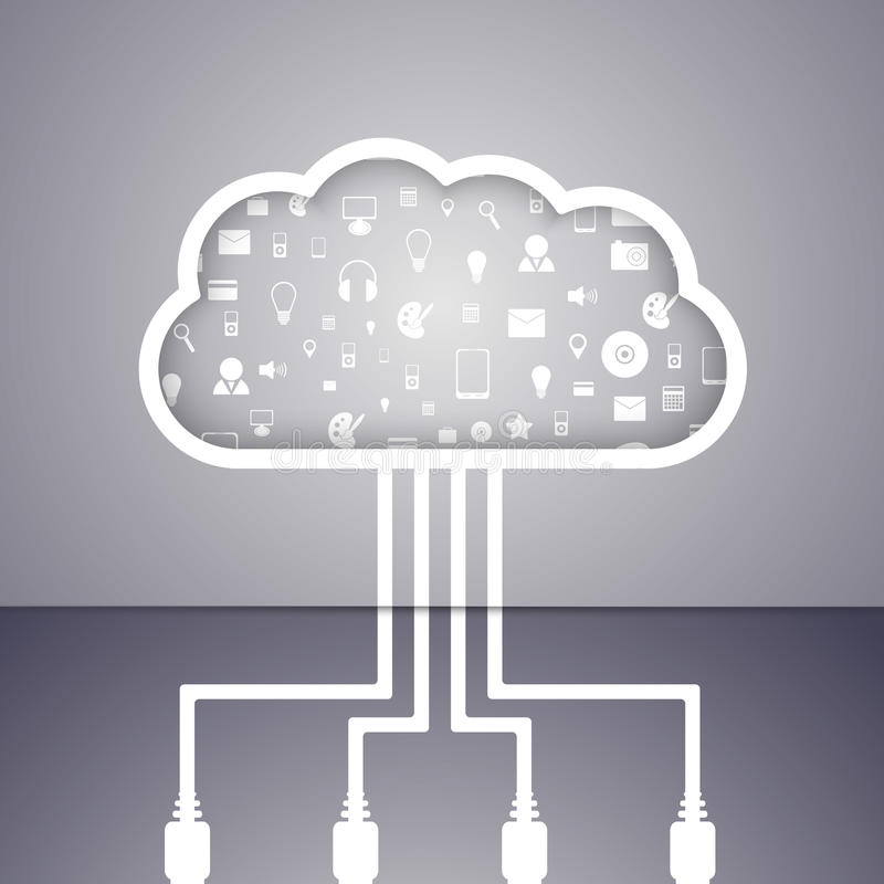 Download Cloud Computing Technology Abstract Concept. Stock Vector - Image: 41455112