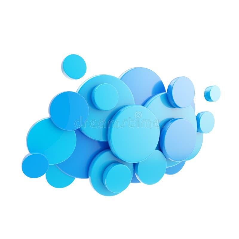 Cloud computing technology blue icon