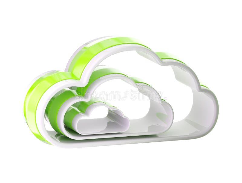 Cloud Computing Technology Icon Emblem Stock Image