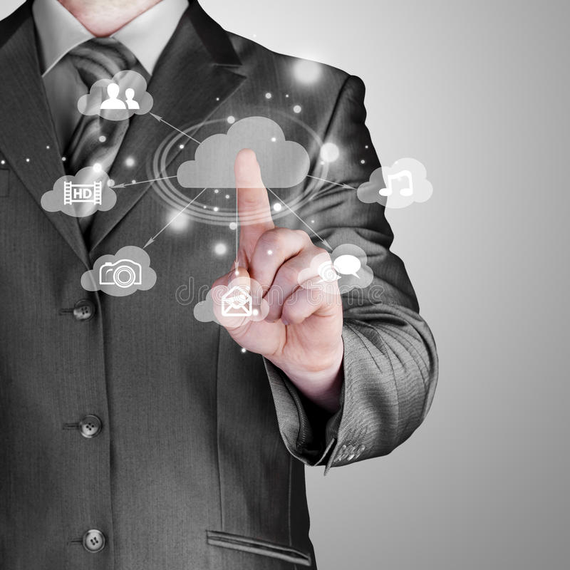 Download Cloud Computing Touchscreen Interface Stock Image - Image: 34933201