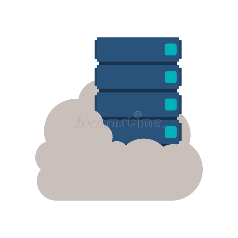 Cloud computing and web hosting design. Cloud computing and web hosting icon. Storage technology virtual and network theme. Isolated design. Vector illustration vector illustration