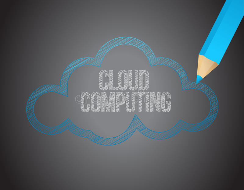Download Cloud Computing White Text Over Black Board Stock Illustration - Image: 28942798