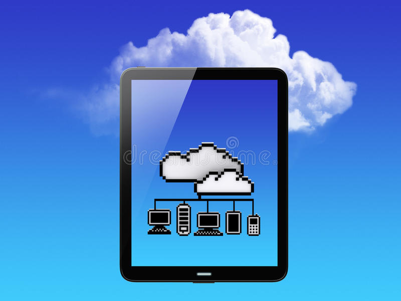Download Cloud Concept. Tablet PC stock illustration. Image of communication - 26519599