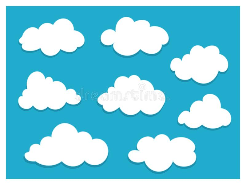 White clouds with copy space for text template. royalty free illustration