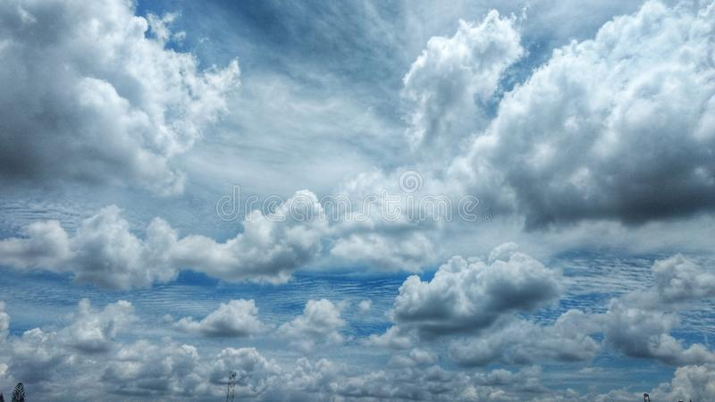 Cloud covered on the sky royalty free stock photos