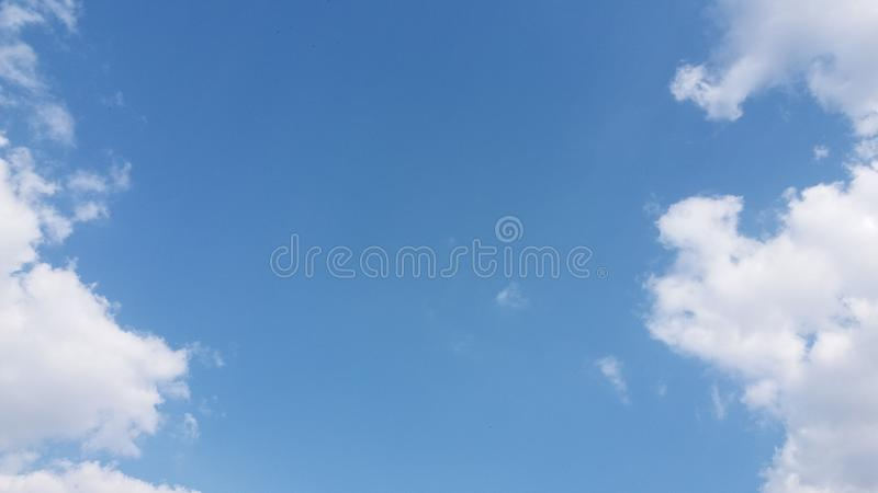 Cloud cumulus clouds of vertical development royalty free stock photography