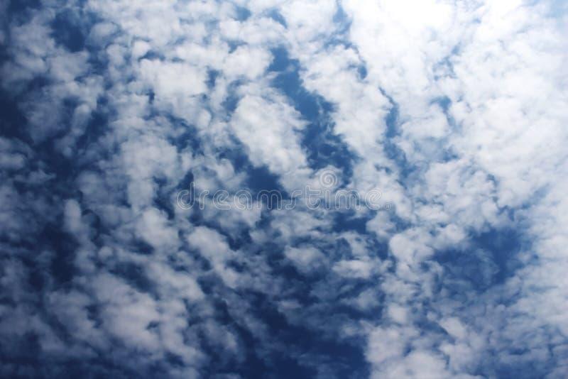 Cloud on dark blue sky. Blur image of cloud on dark blue sky royalty free stock image