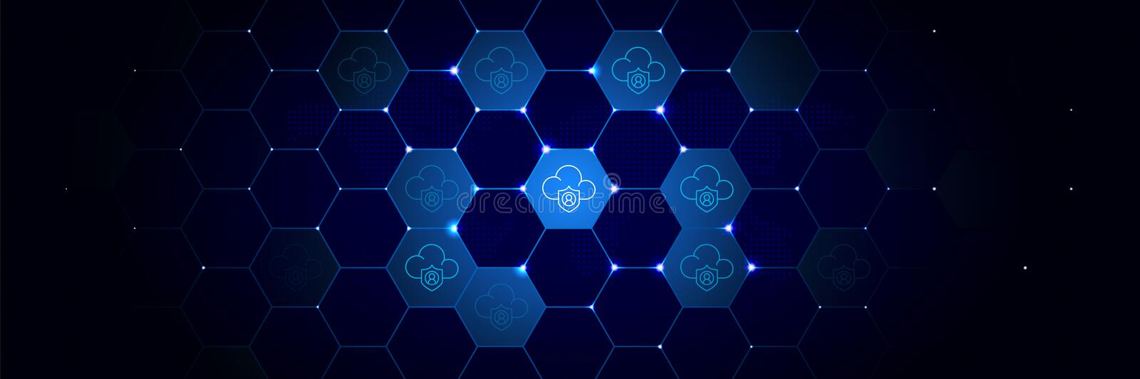 Cloud, data icon from General data project set in the technological. Comb background royalty free illustration