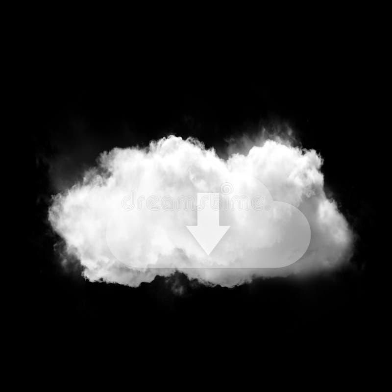 Cloud data shape illustration concept isolated over black background vector illustration