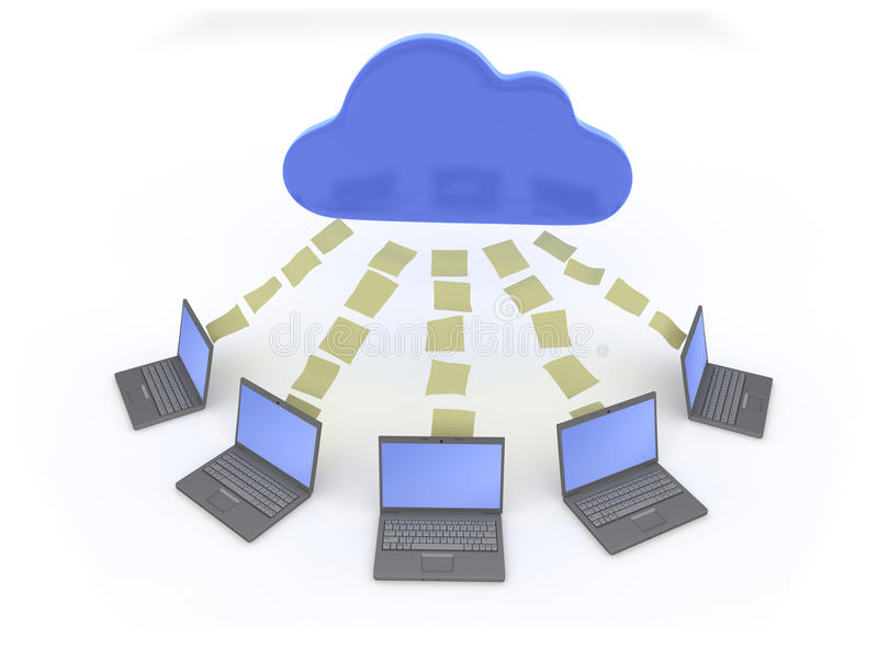 Download Cloud Data Sharing stock illustration. Image of solution - 27019503