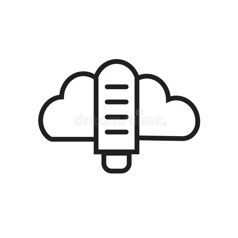 Cloud data storage icon stock illustration